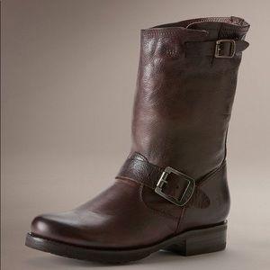 Frye Veronica short slouch engineer boot
